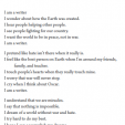 """A poem titled """"Writer"""" seem like a logical post for today"""